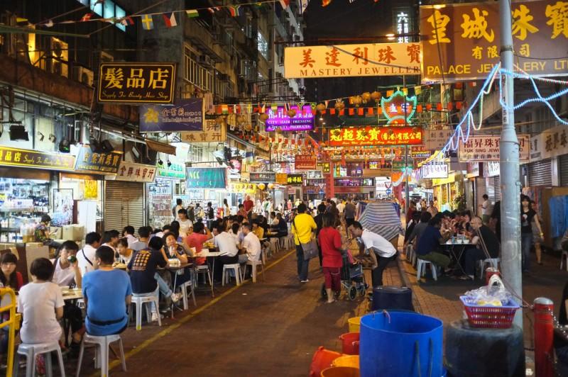 Гонконг, ночной рынок Темпл-стрит